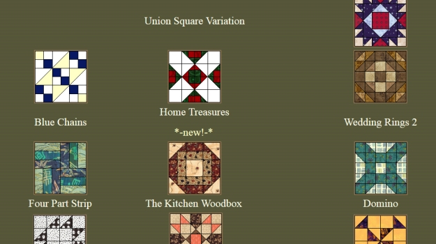 Screen shot of the Quilter's Cache Web site