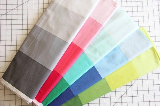 Ombre stripes for Moda Fabrics, Courtesy Vanessa Christenson.