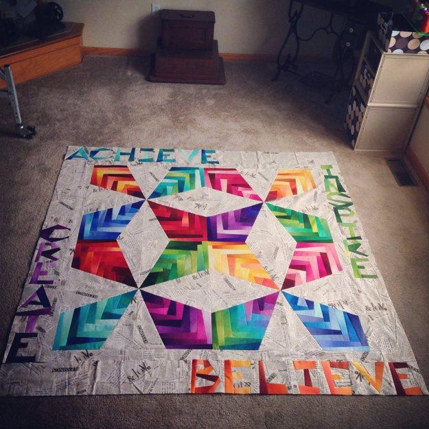 Interlace Nuance quilt, by Stephanie Adams of Savy Girl Design Studio. Courtesy  Stephanie Adams.
