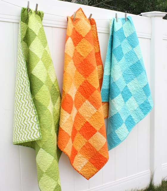 Ombre baby quilts by Amy Smart. Photo courtesy  Amy Smart.