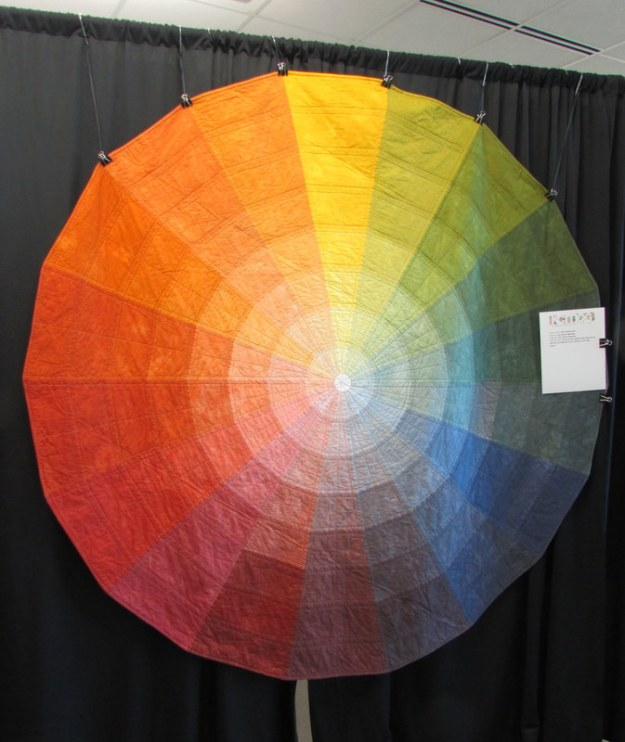 Color Wheel quilt, by Kim Eichler-Messmer.