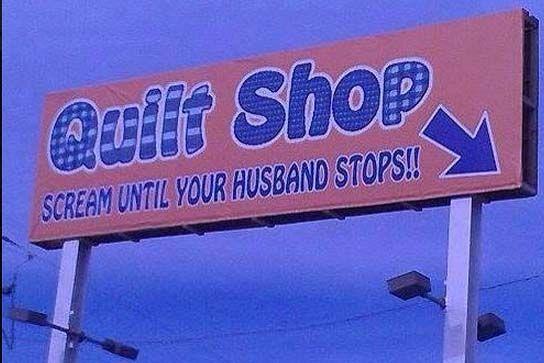 Quilt Shop Billboard